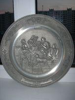 Тарелка 1, барельеф, олово, d-26 cм, Германия