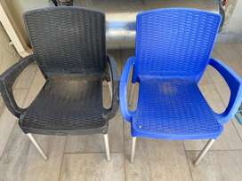 2x Plastic Chairs for Sale