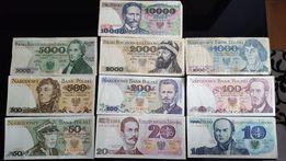Stare banknoty PRL 10 -10 000 zł (10 szt)