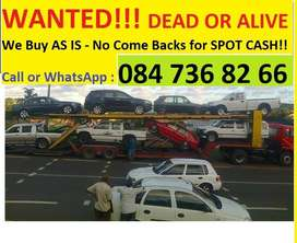Urgently, Wanted Vehicles anywhere in KZN