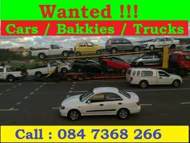 We Buy Used cars and bakkies for cash