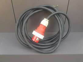 3 phase cable and plug. 8.5 meters