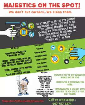 MAJESTICS ON THE SPOT CLEANING AND HYGIENE SERVICES