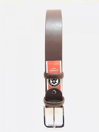 Ремень кожаный мужской Andro темно-коричневый. Киев - изображение 2
