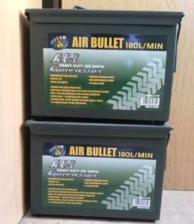 HEAVY DUTY AIR COMPRESSOR IN AMMO CASE 12V