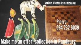 Wooden items from Bali