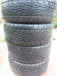 Image of 4xDunlop SP Sport tyres,Almost as new!!205/45/16