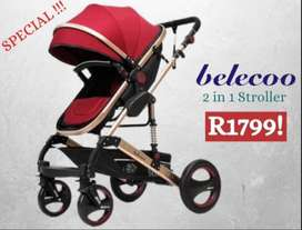 Belecoo 2 in 1 Baby Stroller BRAND NEW in the Box Sealed