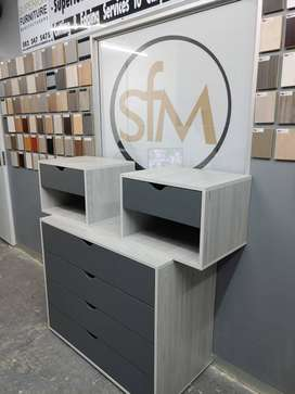 Chest of drawers and pedestal sets