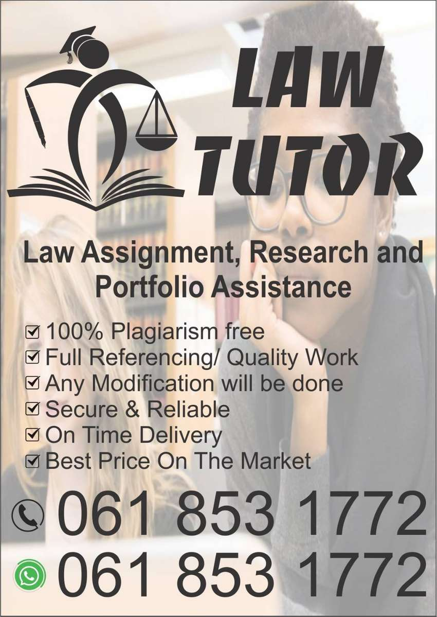 Law Tutor, Assignments, Legal research, Portfolio, LME, LJU, IRM, SJD 0