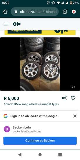 BMW mags with runflat tyres
