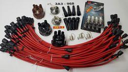 Высоковольтные провода ЛУАЗ ЗАЗ 968 запорожец наконечники свечи крышка