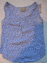 Bluzka bez rekawow kwiaty niebieska 36 S dziewczęca lekka