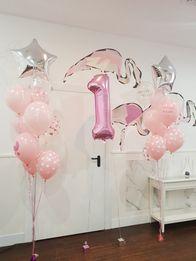 balony helowe, pompowanie balonów helem, cyfry helowe. hel