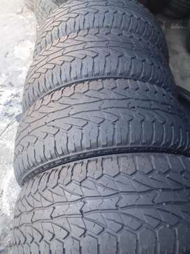 265/65 /17 tyres almost 85 percent to 90 percent threat left