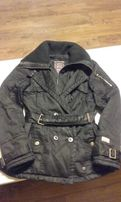 DREIMASTER super modna czarna ciepła kurtka parka damska zimowa roz. M