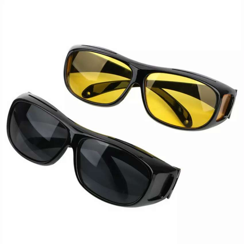 2 in 1 Car Driving Glasses Night Vision and Day Goggles Anti Glare 0