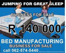 Factory making base and mattresses for sale R140 000