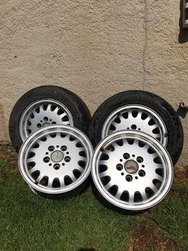 """BMW Rims and 2 Tyres 15"""""""