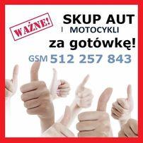 !!! SKUP AUT osobowych, dostawczych, ciężarowych, motocykli od 2000 r