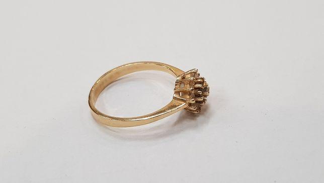 Przepiękny złoty pierścionek/ 585/ 1.9 gram/ R12/ sklep Gdynia Gdynia - image 3