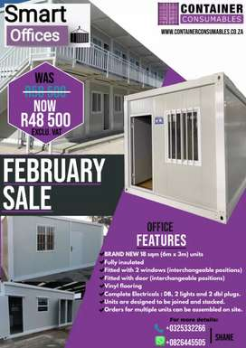 FEBRUARY SPECIAL 6x3mt Smart Office