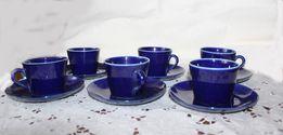 Продам винтажный кофейный набор,кобальт, фарфор 60е г.г. Польша (Киев)