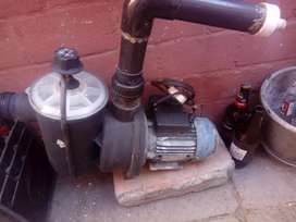 Swimming pool  water pump and filter