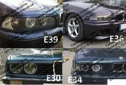 Реснички на БМВ Е30 Е34 Е39 Е36 Накладки на фары BMW E30 E34 E36 E39