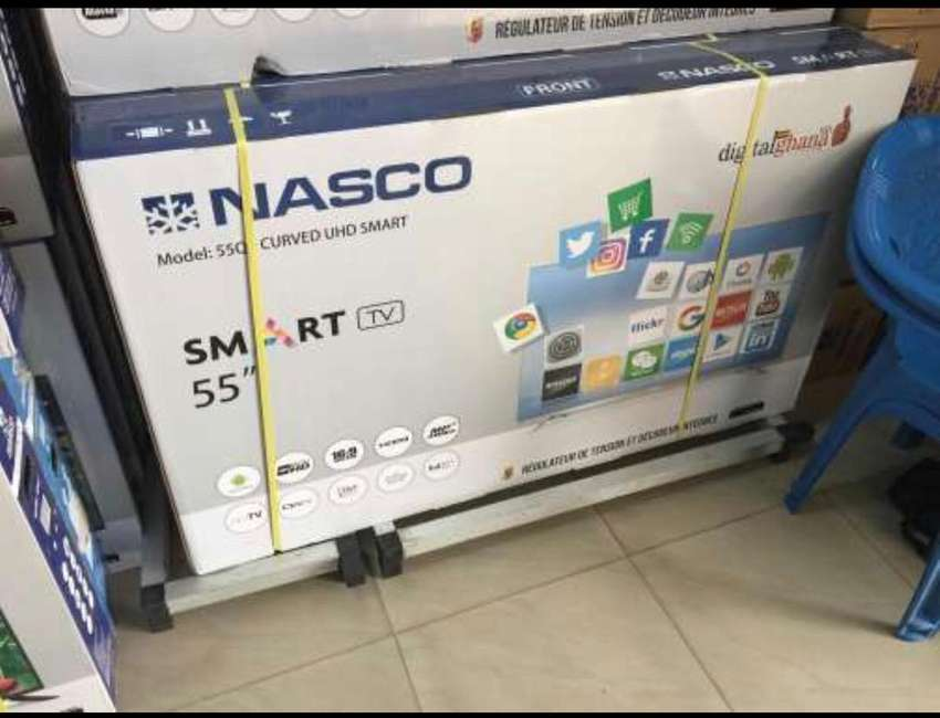"NASCO 55"" UHD TV 4K SMART DIGITAL & SATELLITE 0"
