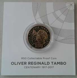 2017 O.R Tambo centenary proof R50 coin (low mintage)