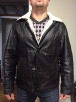 Кожаная мужская зимняя куртка на меху