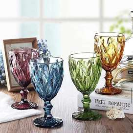 Solid Glass Wine Goblets