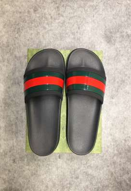 Gucci Web Slide Sandals with Tread Sole, Fits Size 9.5-11