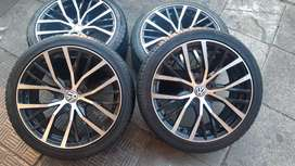 A set of polo R-Line mags and tyres on a very good condition