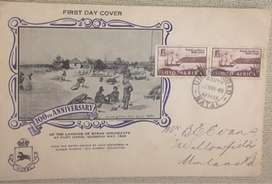 100th anniversary first day cover - landing of the Byrne Immigrants at