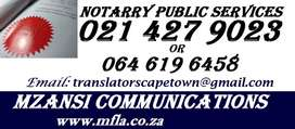 Notary public services in Northern Cape