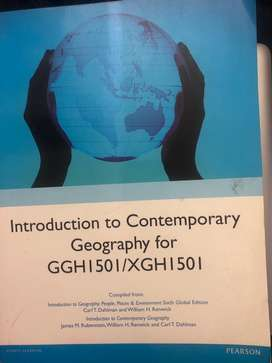 Introduction to Contemporary Geography for GGH1501 / XGH1501