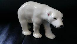 Porcelanowa figurka Niedźwiedzia Polarnego..Antyk..Cechowana..Okazja!