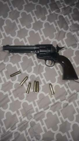 Single action colt gas gun with 6 shells for sale