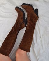 Замшевые сапоги,ботфорты замшевые,сапоги осенние,женские сапоги