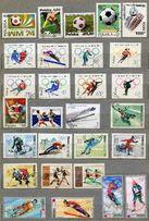 Почтовые марки; Польши, Венгрии спорт.