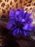 ободок обруч фиолетовый цветок