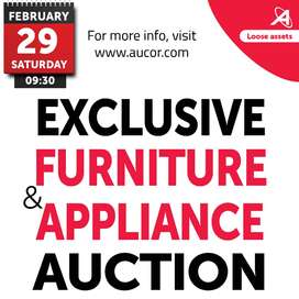 Exclusive Furniture & Appliance Auction
