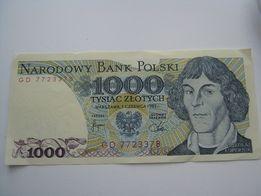 Banknot 1000 złotych okazja tanio stan idealny