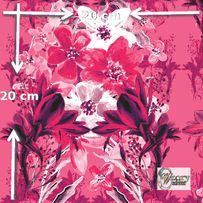 Materiał lub tapeta drukowane na zamówienie - Kwiatowy różowy bukiet