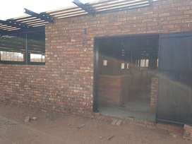 Modern under roof pigsty to rent