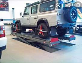 Car/truck lift. tyre alignment Scissors. Dent repairs, panel beaters