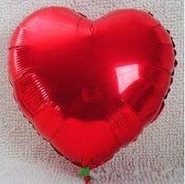 Balon serce DUZY Foliowy 45cm NOWY hel gwizdka czerwony urodziny