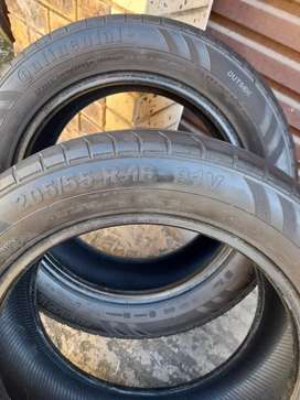2x Continental Sport Contact Tyres.